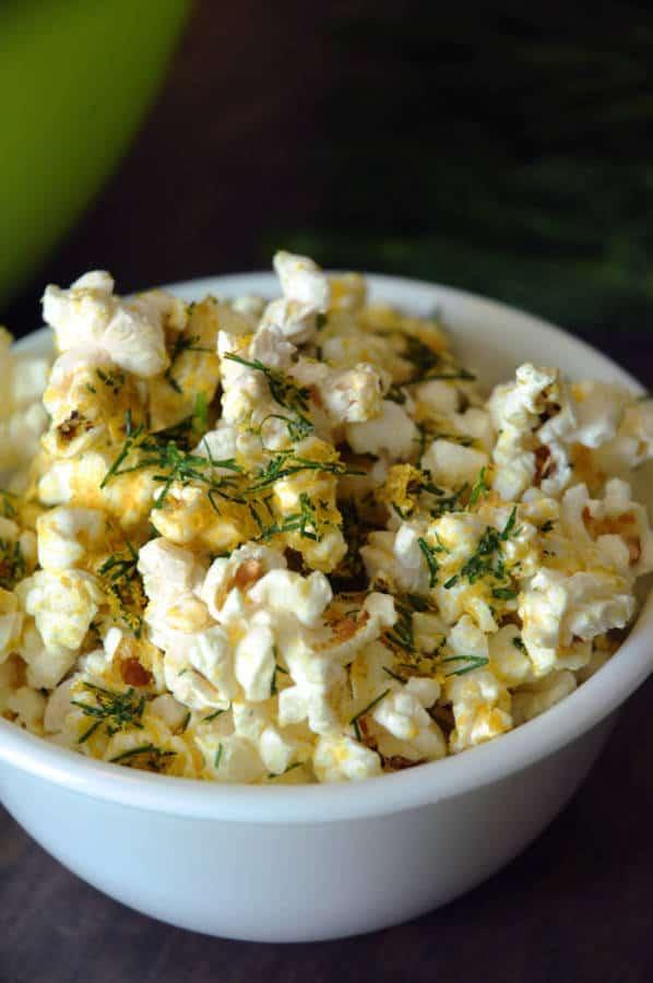Cheesy Dill Popcorn