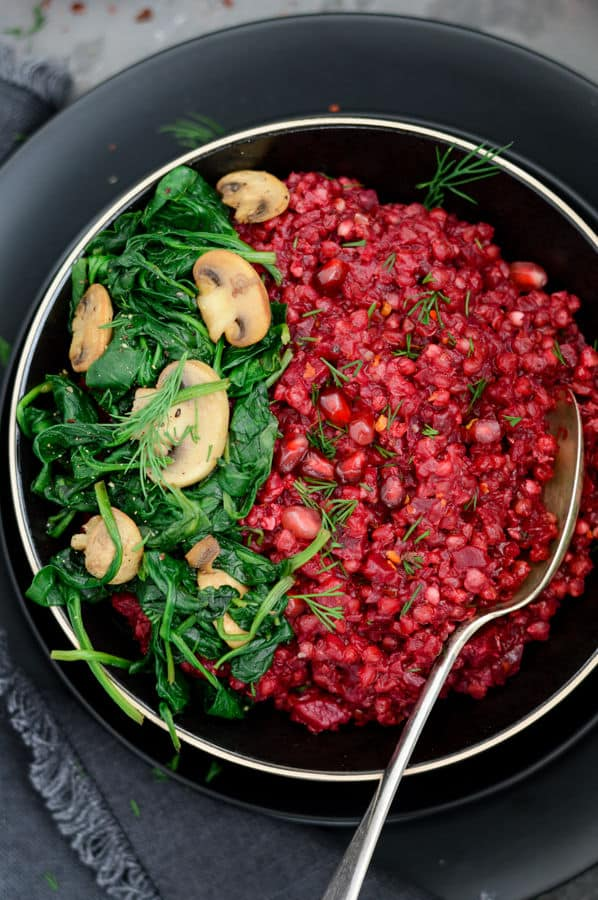 Creamy Beetroot and Buckwheat Risotto