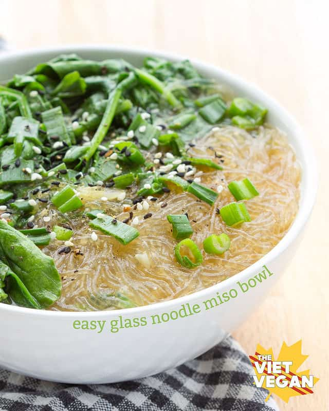 Easy Glass Noodle Miso Bowl