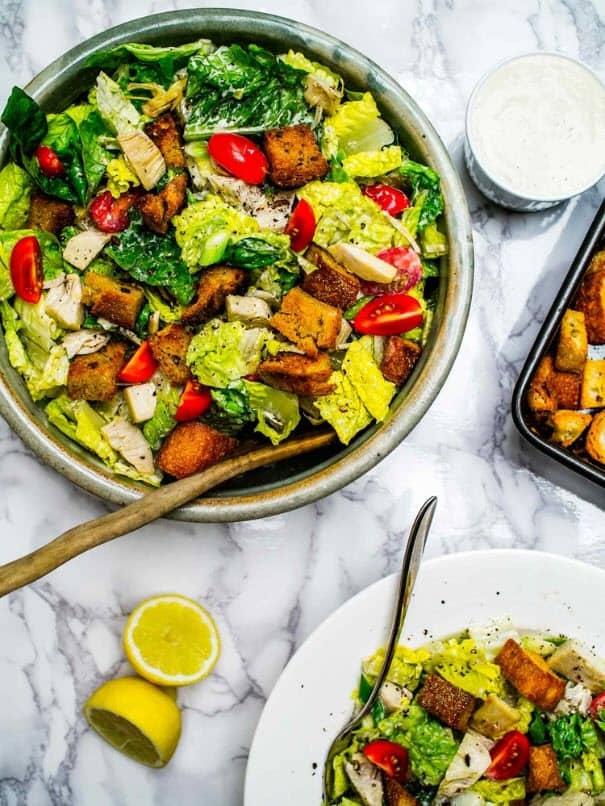 Jackfruit Caesar Salad