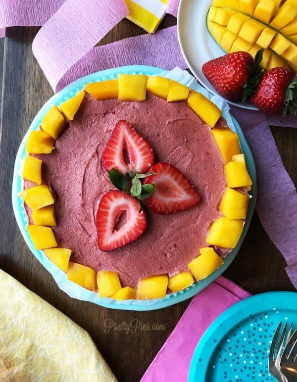 Mango Berry Cheesecake