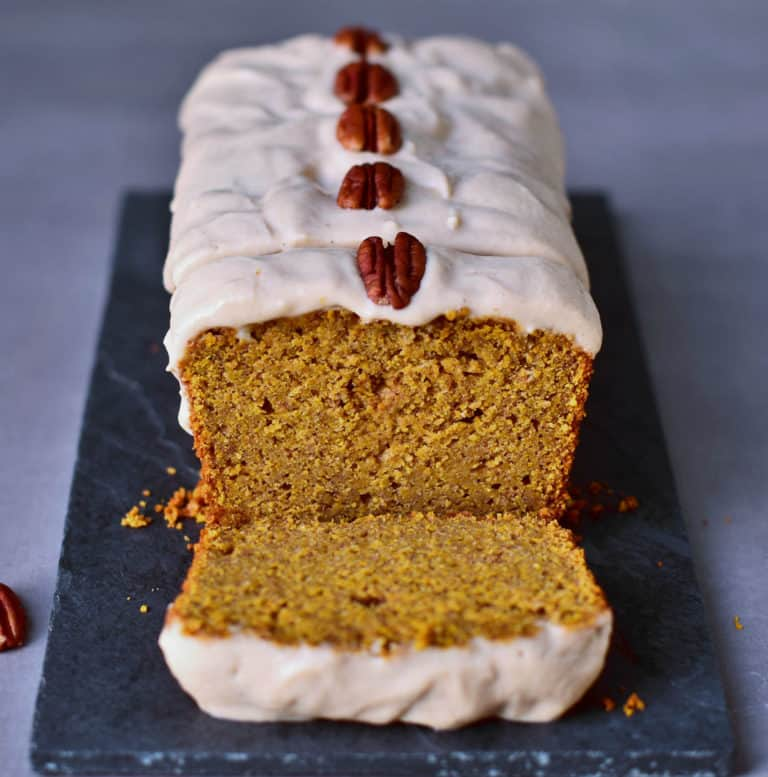 Pumpkin Cake with a Cashew Frosting