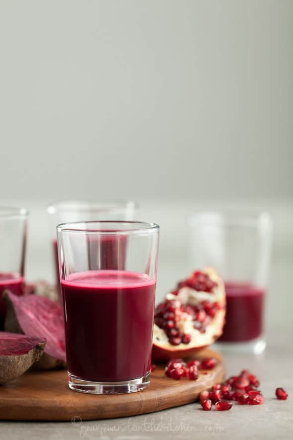 Ravishingly Red Juice (with Pomegranate, Beet and Red Cabbage)
