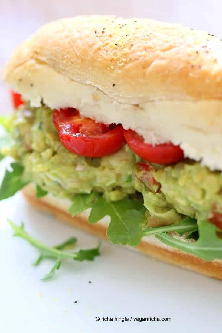 Spicy Avocado Chickpea Salad Sandwich