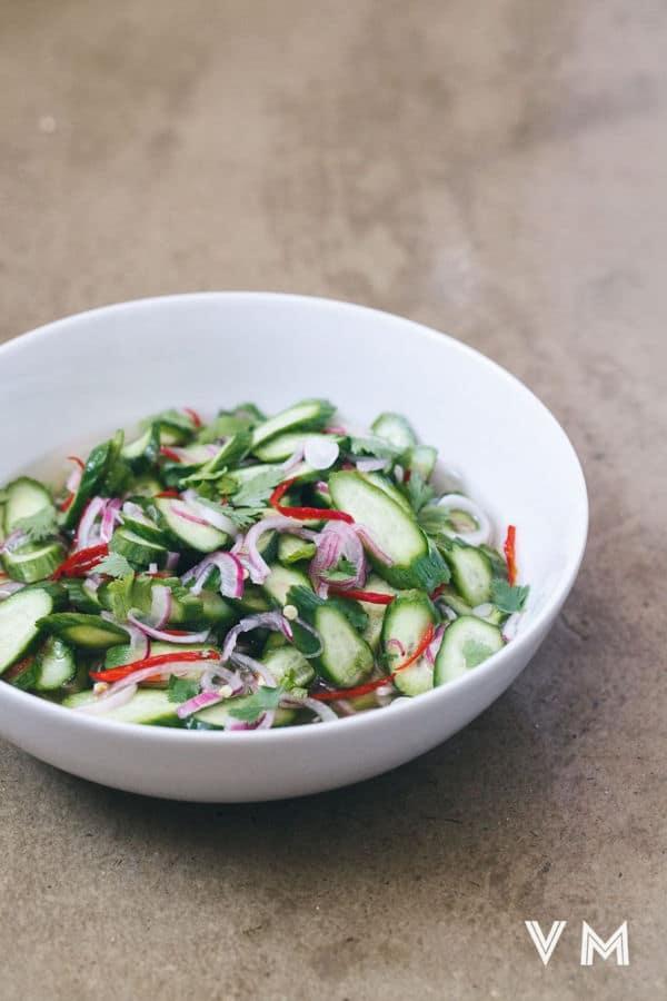 Thai Cucumber Relish (Ajat)