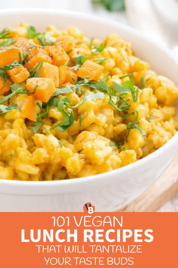101 Vegan Lunch Recipes That Will Tantalize Your Taste Buds