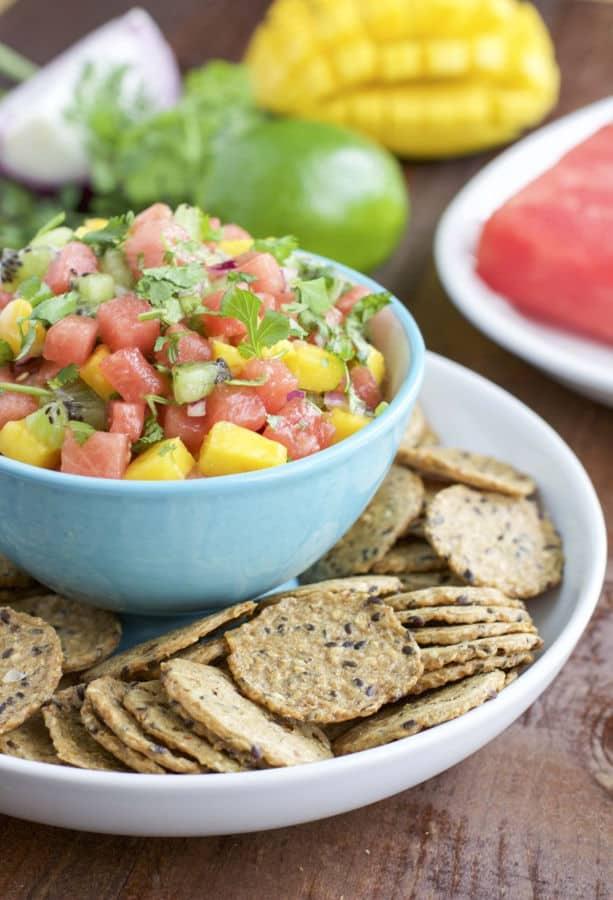 Watermelon Kiwi Mango Fruit Salsa