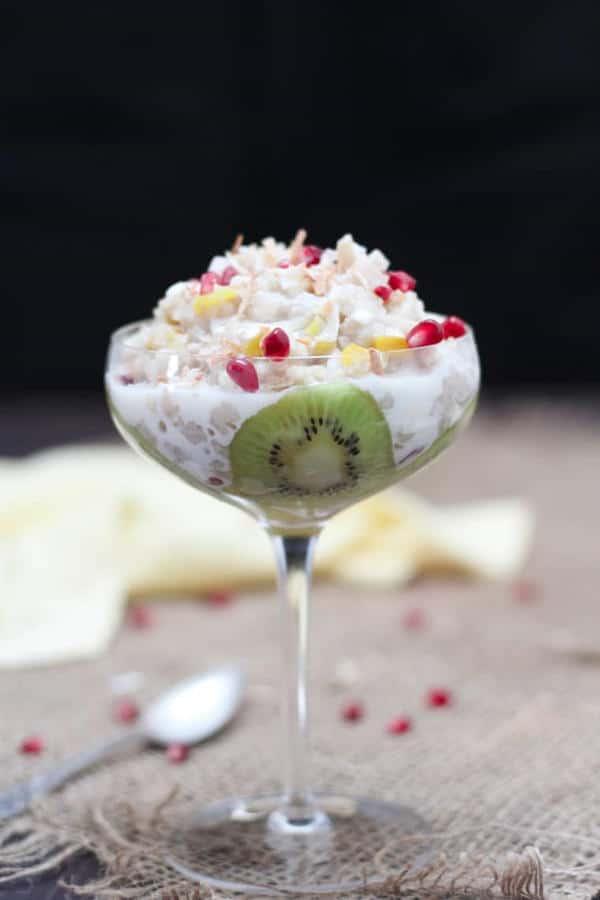 Coconut Rice Pudding with Mango and Kiwi