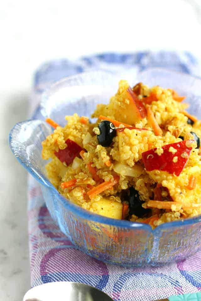Curried Quinoa Salad with Fruit and Almonds