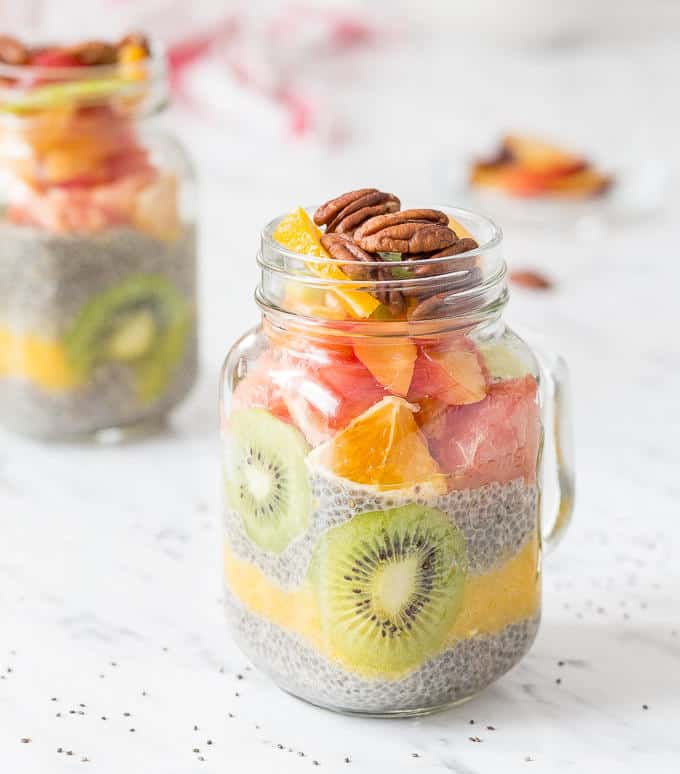 Fruit Layered Chia Seed Pudding