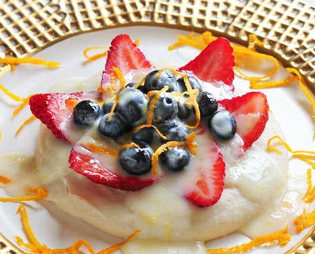 Lemon Glazed Fruit and Custard