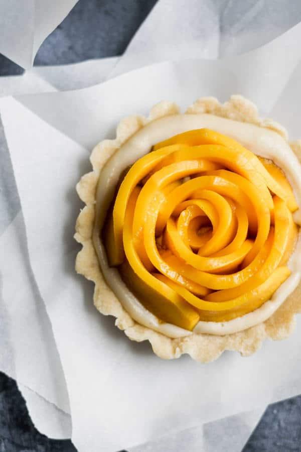 Mango Tarts with Vanilla Pastry Cream