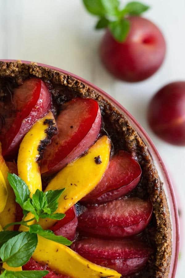 Plum & Mango Tart (Gluten-Free)