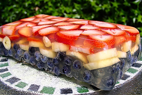 Red, White, and Blue Fruit Terrine