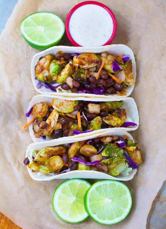Barbecue Brussels Sprouts Tacos (Gluten-Free)
