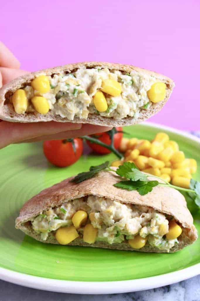 Chickpea Mayonnaise Salad Sandwich (Gluten-Free)
