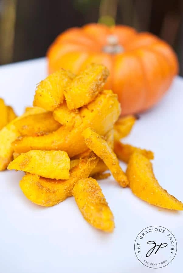 Clean Eating Pumpkin Fries Recipe