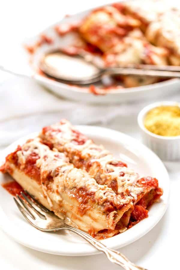 Easy Vegan Manicotti with Tofu Ricotta