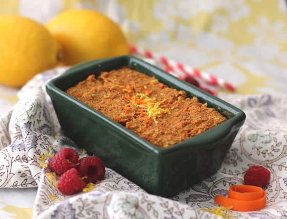 Healthy Microwaveable Carrot Cake Quinoa Flake Protein Loaf