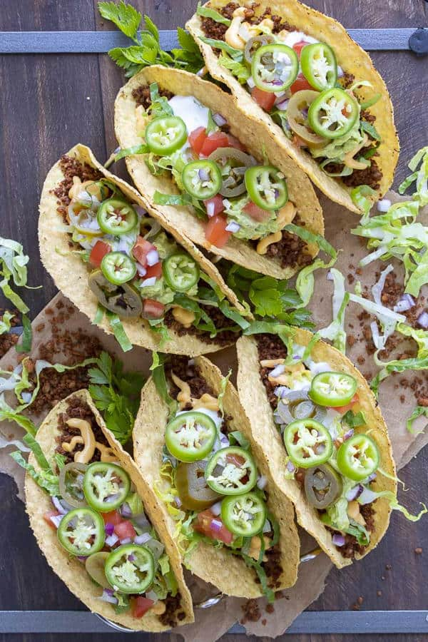 High-Protein Tacos with Vegan Taco Meat