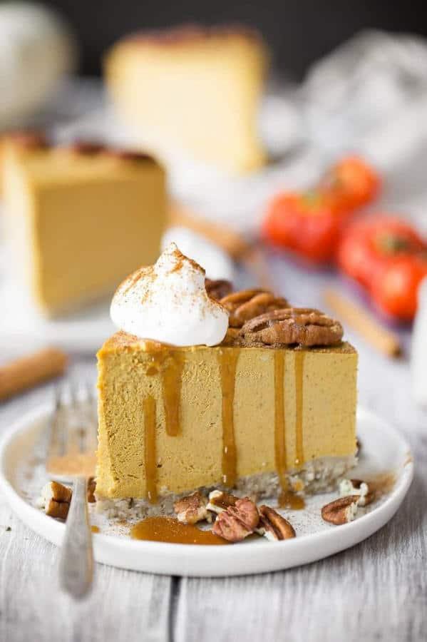 No Bake Easy Vegan Pumpkin Cheesecake
