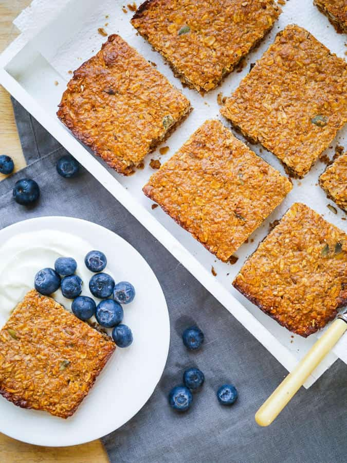 Oat, Apple and Walnut Protein Flapjacks