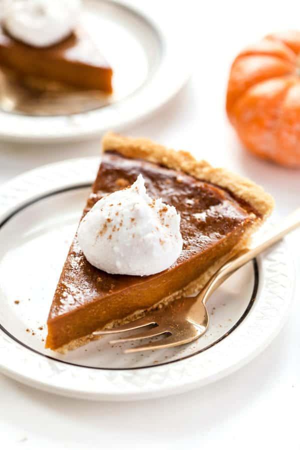 Pumpkin Pie with Almond Flour Pie Crust