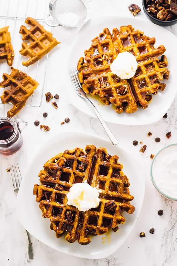Pumpkin Waffles (Gluten-Free)