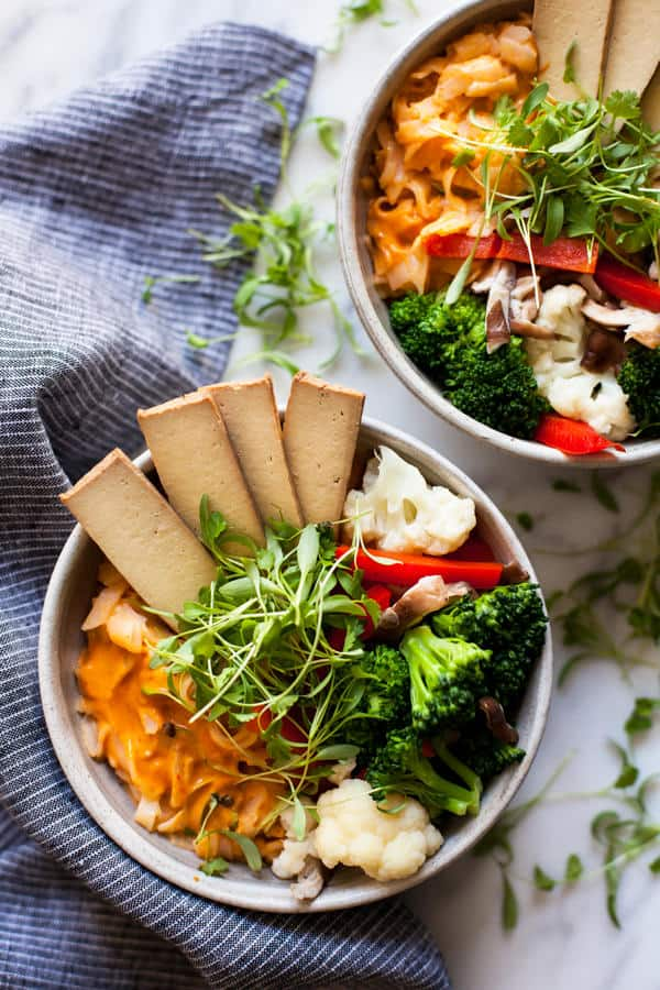 Quick and Easy Red Curry Rice Noodle Bowls