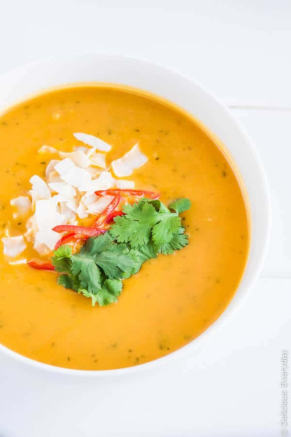 Thai Pumpkin Soup with Coconut Milk