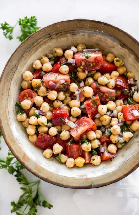Tomato Chickpea Salad Recipe