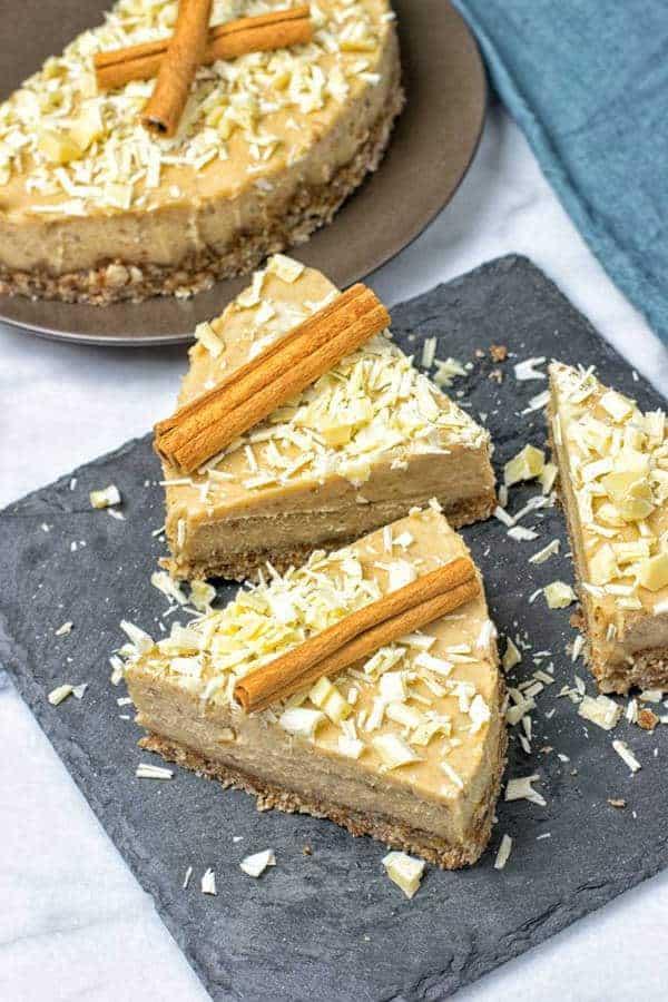 Cinnamon White Chocolate Cheesecake