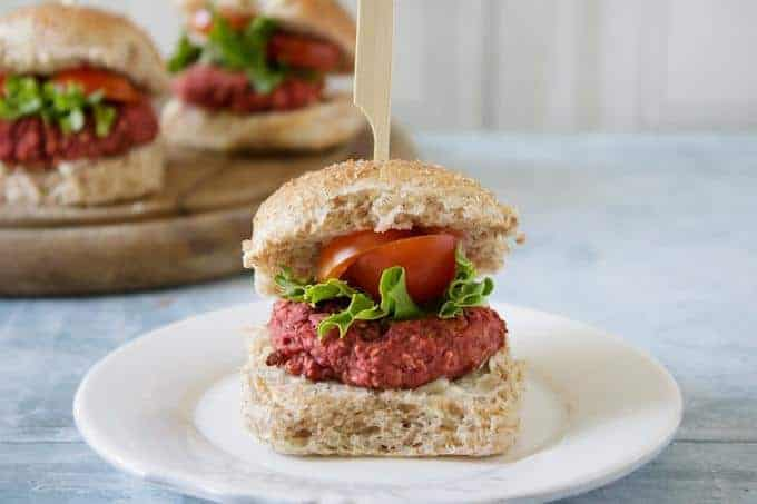 Easy Mini Beetroot Burgers