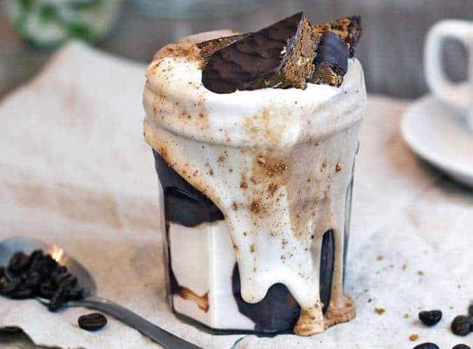 Simple Chocolate Marble Smoothie Jar