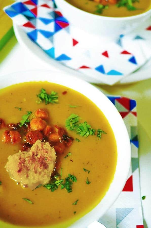 Amazing Creamy Carrot and Sweet Potato Soup