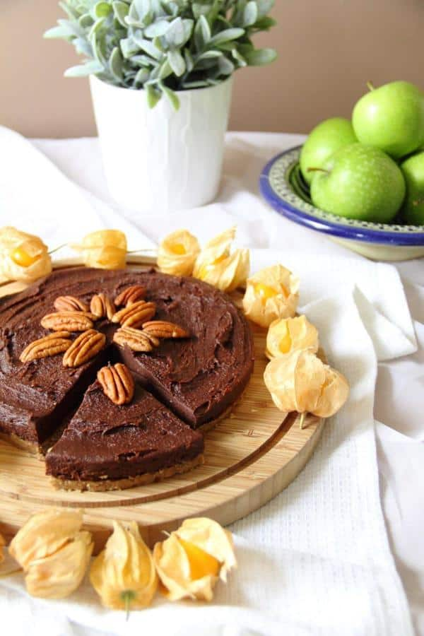 Chocolate Torte with Pecan Crust