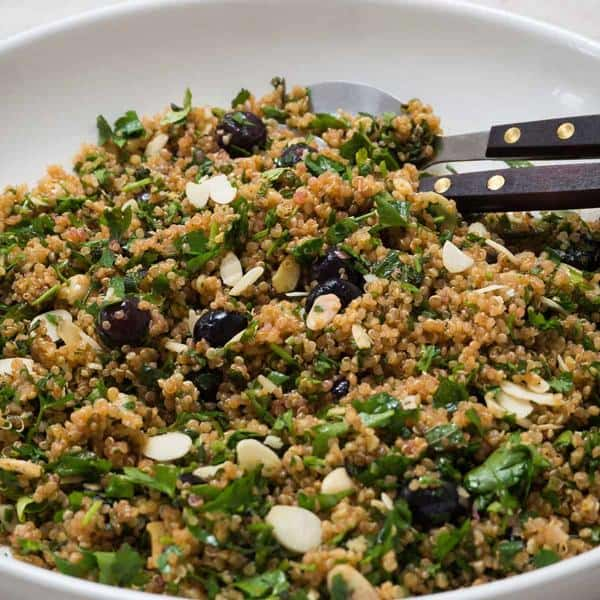 Fragrant, Almond, Blueberry and Quinoa Salad