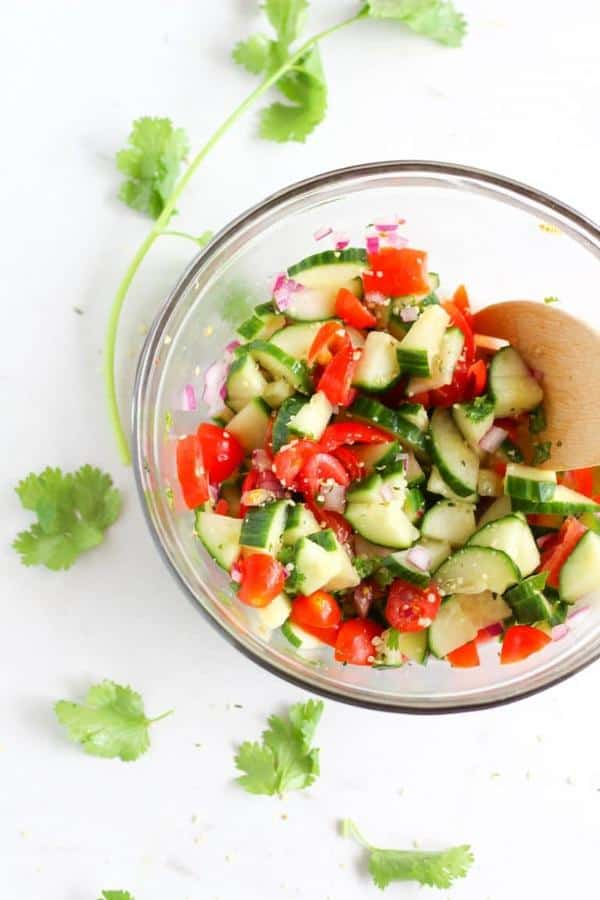 Hemp Cucumber Tomato Salad