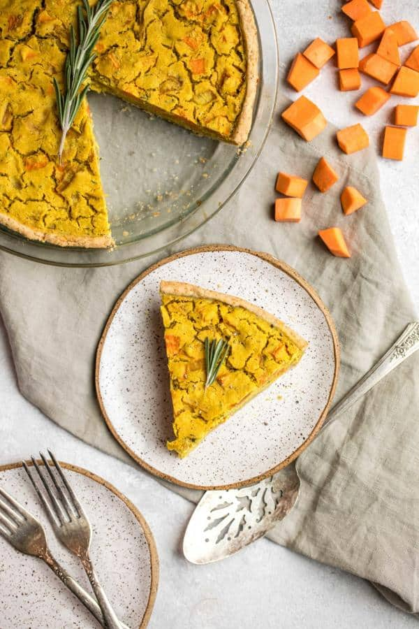 Sweet Potato and Rosemary Quiche