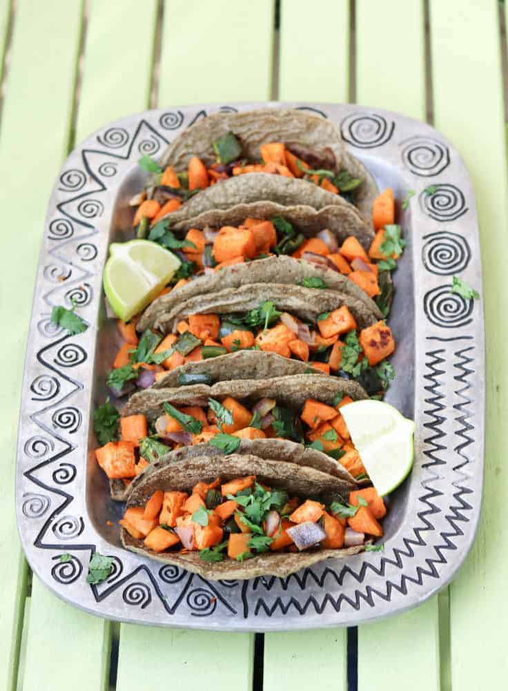 Sweet Potato Tacos with Roasted Cumin
