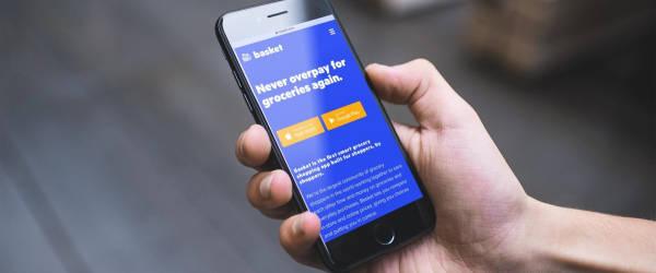 Discount flyer app on smartphone