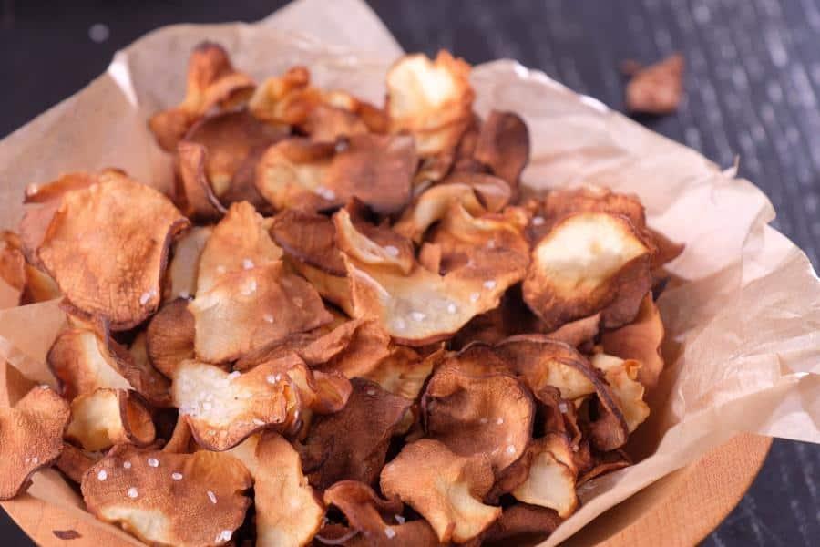 Air Fryer Salt and Vinegar Sunchoke Chips