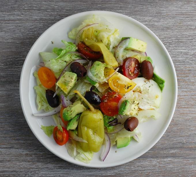 Avocado Greek Salad for the Gods