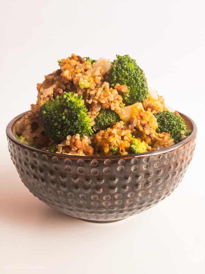 Cheesy Vegan Quinoa Casserole