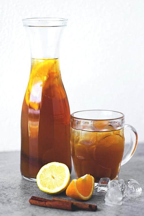 Citrus and Cinnamon Iced Tea