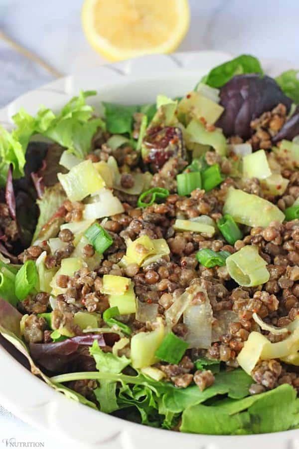 Easy Lentil Salad with Leeks and Lemon Vinaigrette