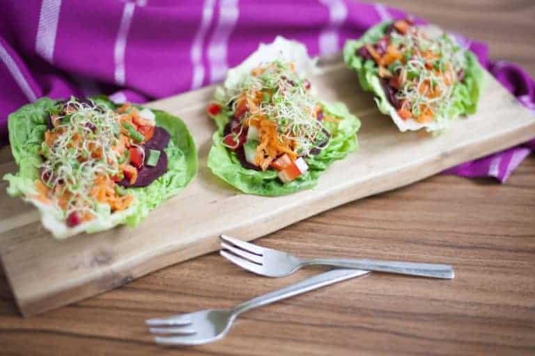 Raw Beetroot Salad Gondolas