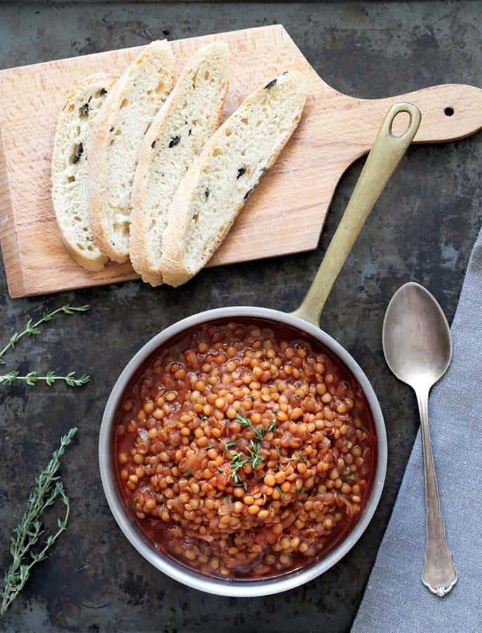Simple Balsamic Lentil Stew