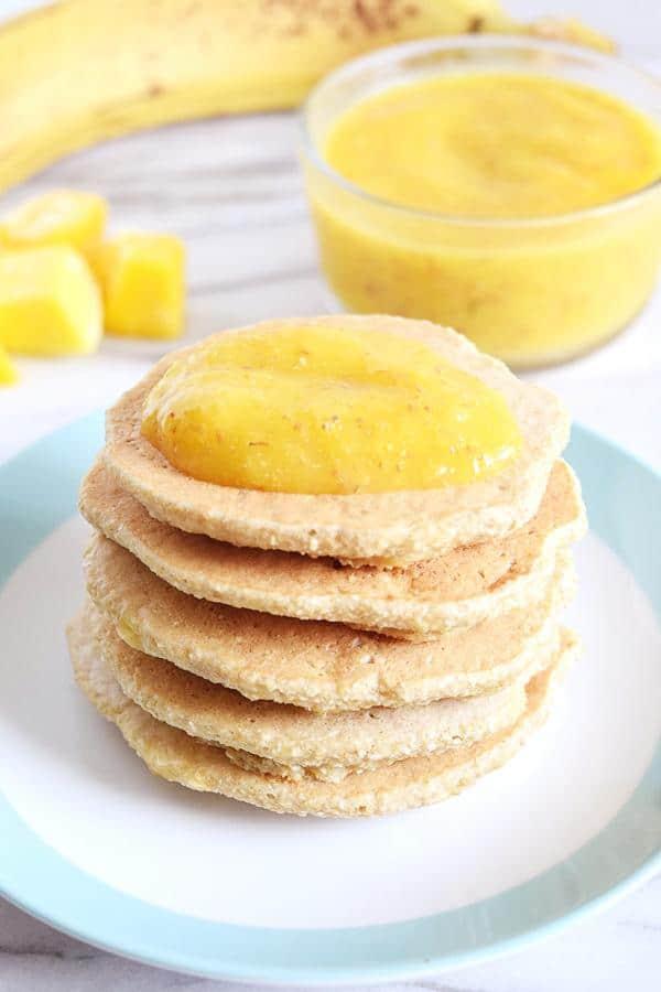 Banana Mango Pancakes