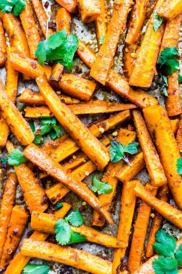 Easy Peri Peri Oven Baked Carrot Fries